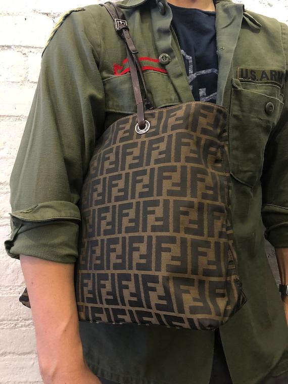 Authentic FENDI Brown Zucca Tote Bag (Zip Top) - image 10