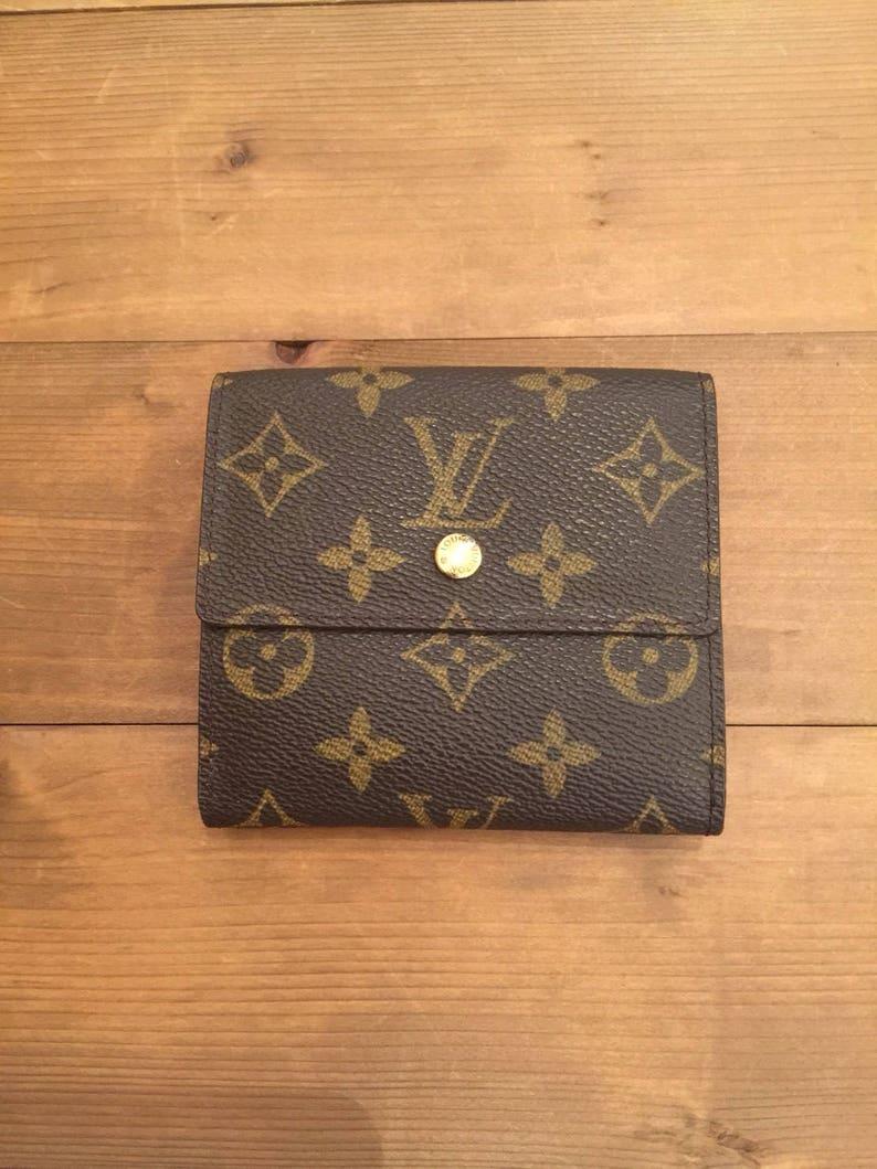 9aa1db866565 Authentic LOUIS VUITTON Monogram Portefeuille Elise Trifold