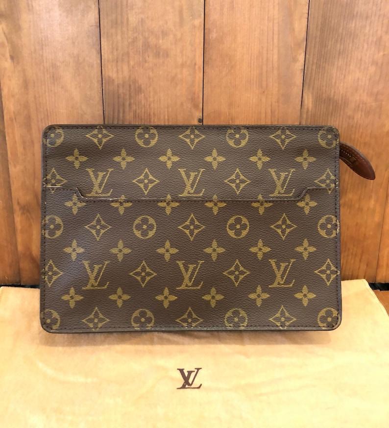2b556e5ca47a Authentic LOUIS VUITTON Monogram Pochette Homme Clutch Bag