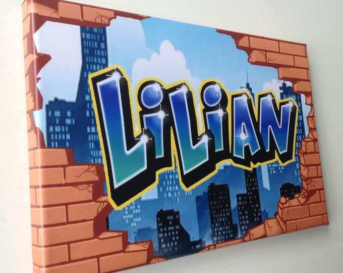 Featured listing image: Custom Graffiti Canvas