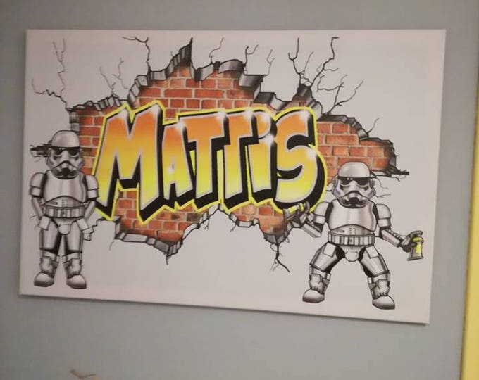 Featured listing image: How custom your graffiti wall decal or canvas