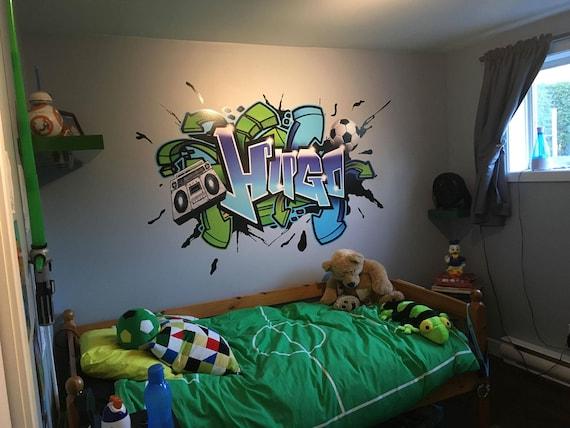 custom graffiti wall decal   etsy