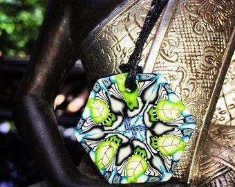Glossed Mother Earth inspired Necklace Pendant