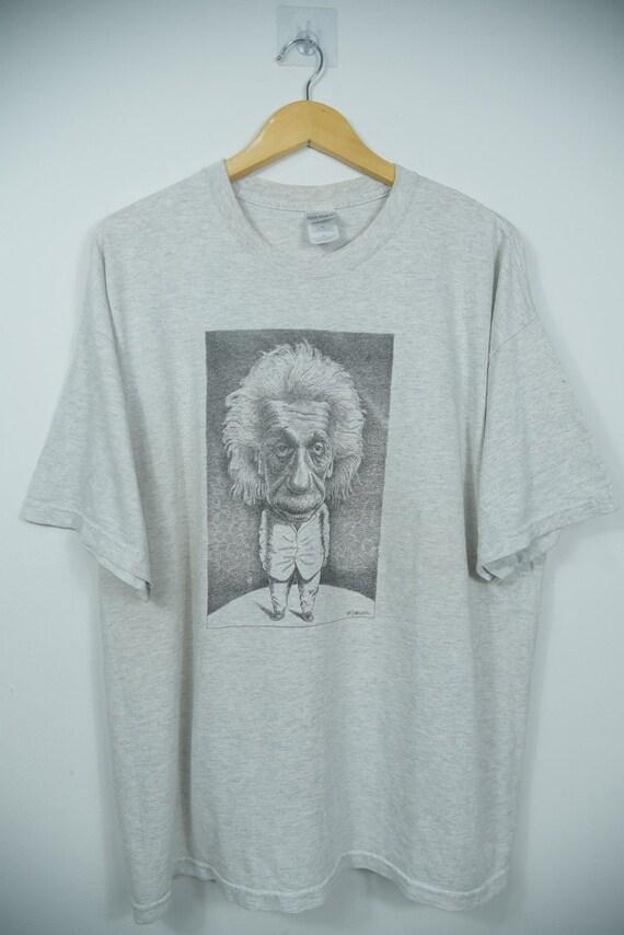 Vintage 90s Albert Einstein Art T-Shirts