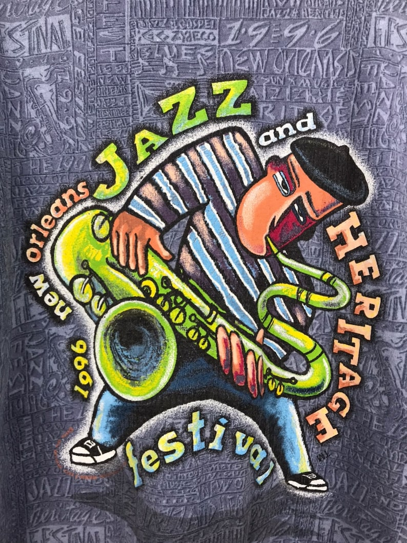 Vintage New Orleans Jazz T-Shirts