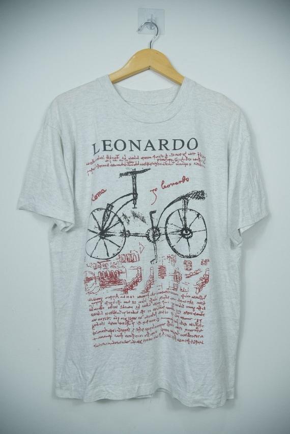 Vintage 90s Leonardo Davinci Art T-Shirts