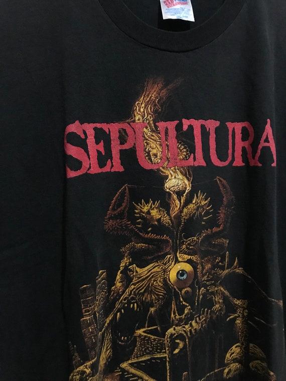 Vintage 90s Sepultura Arise Promo T-Shirt Size XL