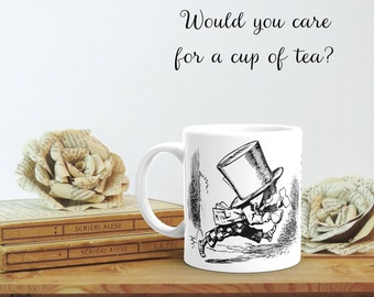 Mad Hatter Quote, Alice in Wonderland, Mad Hatter Mug, Literary Gift Mug, Cute Fall Mug, College Student Gift, Bookworm for Him, Mad Hatter