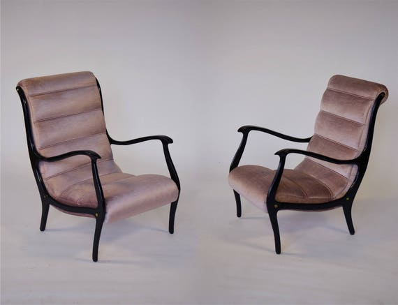 Outstanding A Pair Pink Italian Mid Century Modern Chairs Dailytribune Chair Design For Home Dailytribuneorg
