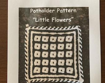 """PATTERN  """"Little Flowers"""" Potholder Loop Pattern for 27 X 27 (Pro) size loom PDF"""