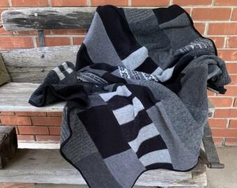 Felted Wool Sweater Lap Robe/Blanket