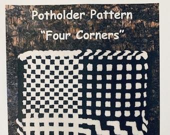 "PATTERN  ""Four Corners"" Potholder Loop Pattern for 27 X 27 (Pro) size loom PDF"