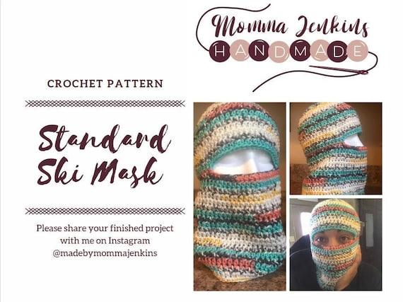 Standard Ski Mask Crochet Pattern
