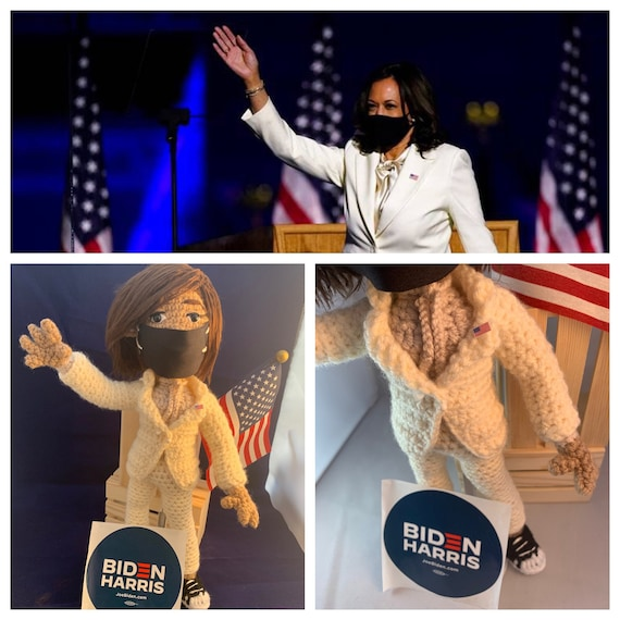 Crochet Kamala, VP Kamala Harris Doll