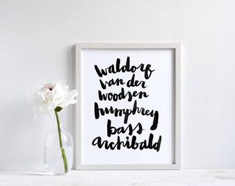 Klatsch Mädchen Print Gossip Girl Darsteller: Blair Waldorf, Nate  Archibald, Chuck Bass, Serena | Typografie Kunst | Gossip Girl Fan |  Geschenke Für Sie