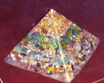 Wealth, Luck, Success Crystals Orgone Pyramid (3 Sizes Available)