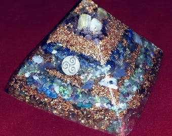 MASTER FLOW, Higher Communication/Connection, Water Flame Crystals Orgone Pyramid
