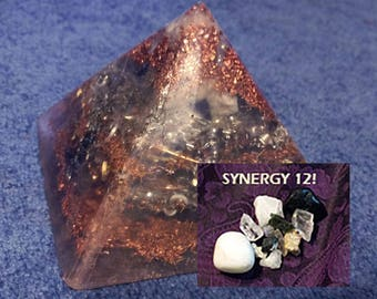 Ascension/SYNERGY 12 Crystals Orgone Pyramid