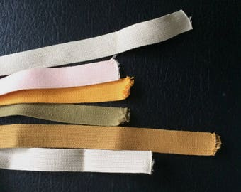 Shaker Tape from the 80's 1 inch wide, wonderful handles for baskets 6 pieces