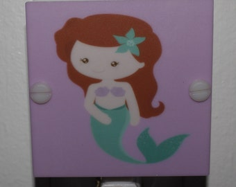 Mermaid Pink and Green Night Light Hand Made with Free Shipping and LED