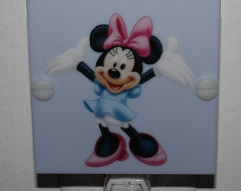 Minnie Mouse Kids Night Light Hand Made With LED & Free Shipping