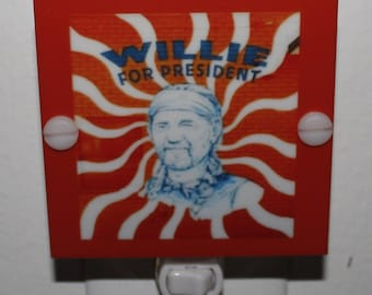Willie Nelson Night Light With LED & Free Shipping