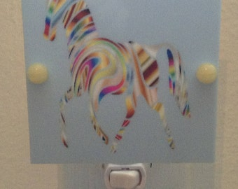 Multi Color Horse Night Light Hand Made With LED Bulb and Free Shipping