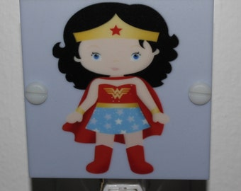 Wonder Woman Girls Night Light Hand Made With LED and Free Shipping