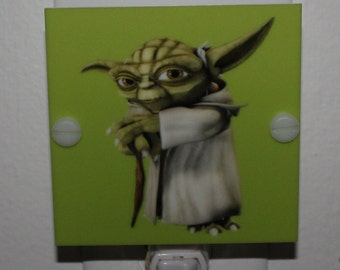 Yoda Star Wars Night Light Hand Made With LED & Free Shipping