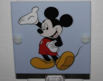Mickey Mouse Kids Night Light Hand Made With LED & Free Shipping