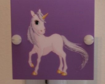 Purple Unicorn Night Light With LED Fixture and Free Shipping