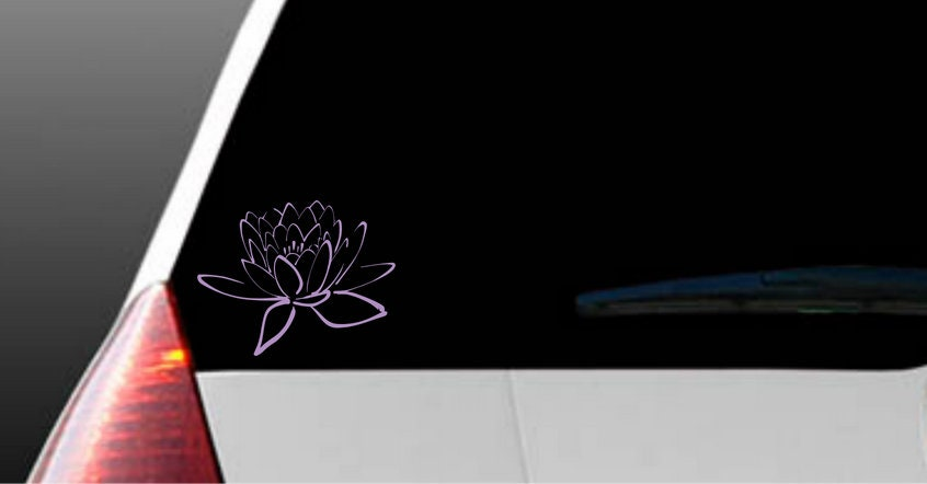 Lotus Flower Decal Water And Weather Resistant Made To Order