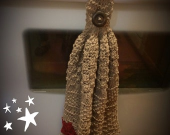 Handmade Knitted Hanging Hand Towels