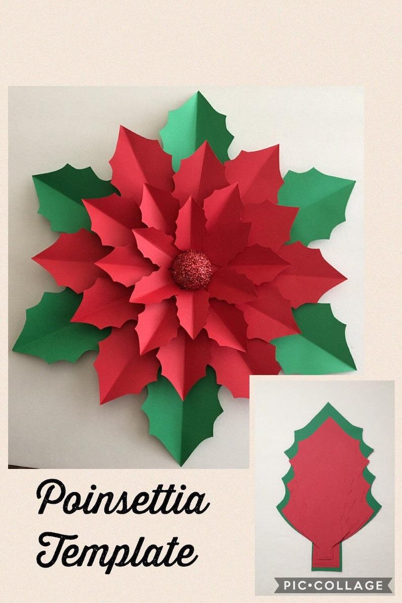 PDF Poinsettia Template  image 0