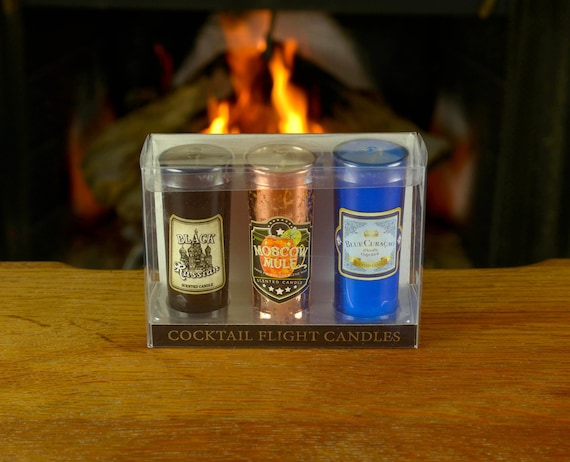 3-Piece Cocktail Scented Candles. Boxed Gift Set