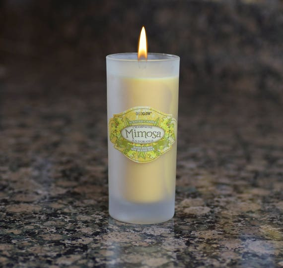 Cocktail Glass Candle, Mimosa Scent - 6oz.
