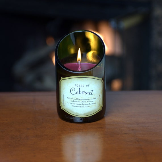 Cabernet Wine Bottle Candle. Superb Value Wine Gift and Very Unique.