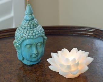 Buddha & LED Lotus Flower Candle