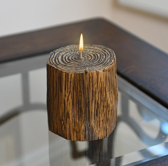 Redwood Branch Wood Effect Candle, One-of-a-Kind, Rustic Wood Decor, Tree Branch