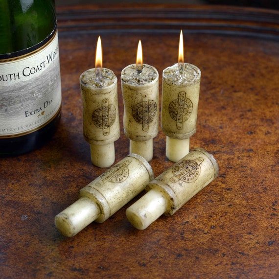 Set of 6 Wine Scented Cork Candles