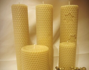 Hand Rolled Beeswax Candles