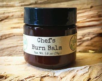 Chefs Burn Balm - Organic Balm for Kitchen Burns and Sunburns