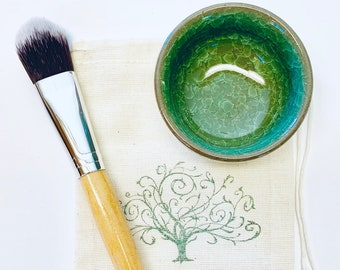 Face Mask Mixing Bowl With Brush