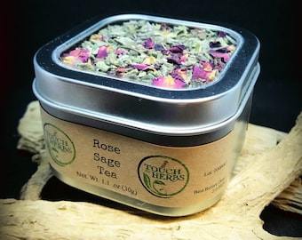 Rose Sage Tea - Mouth , Gum and Throat Support