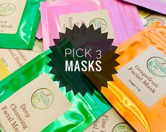 Pick Your 3 Favorite Face Masks