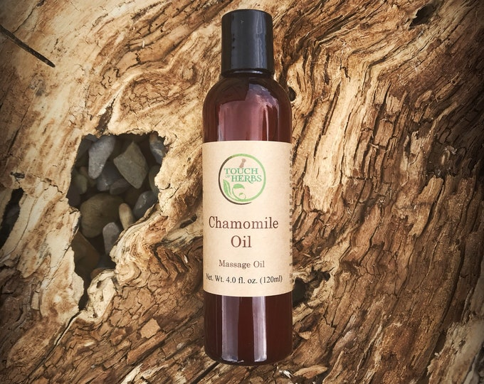 Chamomile Massage Oil - Oil for irritated skin -  Chamomile Infused Oil - Herbal Oil infusion - Baby oil - Skin soothing oil - Organic Oil
