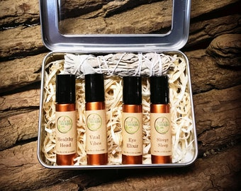 Organic Gift Box Set - Create Your Own Unique Gift Box with 4 Roll Ons of your Choice