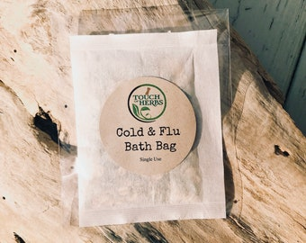 Cold and Flu Bath Bag - Natural Cold and Flu Relief