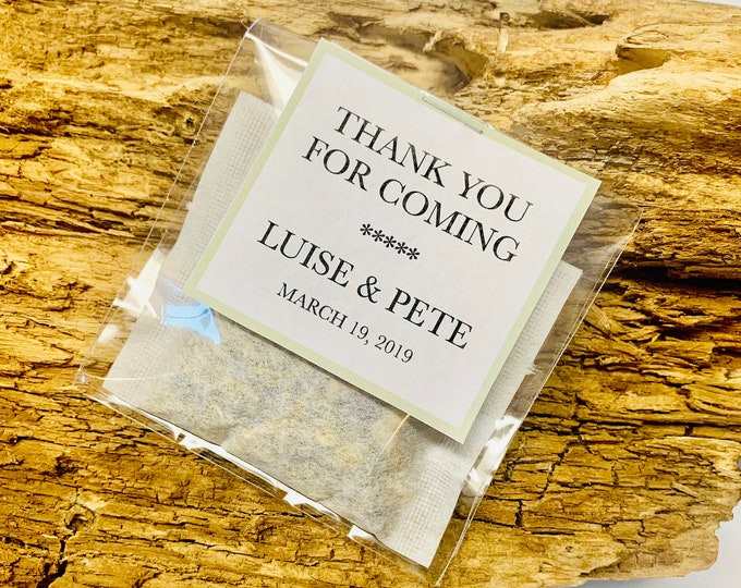 Thank You For Coming Tea Favors