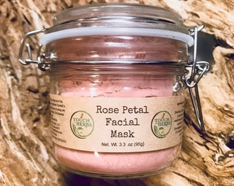 Rose Petal Facial Mask Glass Jar